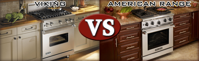 differences between American Range 30 Inch Gas Range and a Viking 30 Inch Gas Range