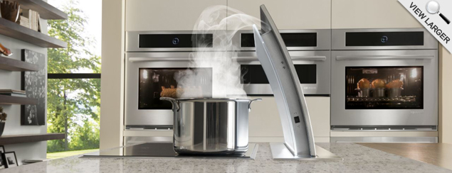 Side Angle of Jenn-Air 36 Inch Retractable Downdraft Vent
