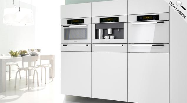 Miele Bright White Built-In Appliances