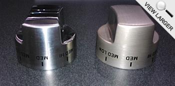 Professional Custom Series New Knob (left) and Old Knob (right)